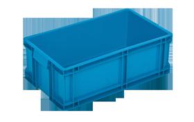 HP-18-K-hipas-plastik-kapali-sanayi-kasa-plastic-stacking-crate-solid-container-bin-пластик-ящик1