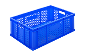 HP-2301-plastik-delikli-sebze-meyve-kasa-sepet-plastic-stacking-crate-perforated-container-bin-пластик-ящик-2-2