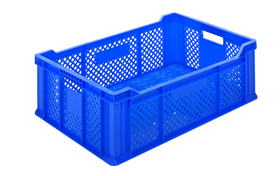 HP-2305-plastik-delikli-sebze-meyve-kasa-sepet-plastic-stacking-crate-perforated-container-bin-пластик-ящик-2-1