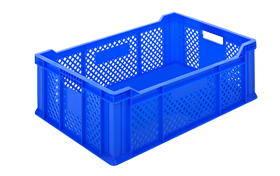 HP-2306-plastik-delikli-sebze-meyve-kasa-sepet-plastic-stacking-crate-perforated-container-bin-пластик-ящик-2-
