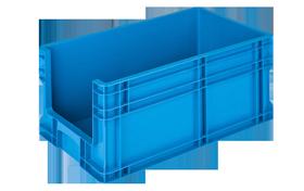 HP-27-AV-hipas-plastik-kapali-sanayi-kasa-plastic-stacking-crate-solid-container-bin-пластик-ящик2