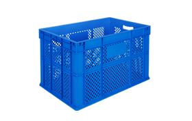 HP-3602-hipas-plastik-delikli-sebze-meyve-kasa-plastic-stacking-crate-perforated-container-bin-пластик-ящик-1