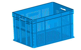 HP-4002-hipas-plastik-delikli-sebze-meyve-kasa-plastic-stacking-crate-perforated-container-bin-пластик-ящик1