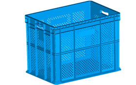 HP-4502-hipas-plastik-delikli-sebze-meyve-kasa-plastic-stacking-crate-perforated-container-bin-пластик-ящик1