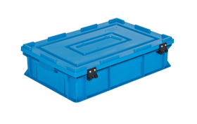 HP-4615-MK-hipas-plastik-kapakli-kapali-sanayi-kasa-plastic-stacking-crate-solid-cover-container-bin-пластик-ящик-