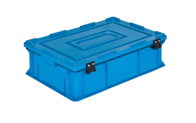 HP-4617-MK-hipas-plastik-kapakli-kapali-sanayi-kasa-plastic-stacking-crate-solid-cover-container-bin-пластик-ящик-