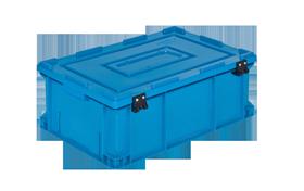 HP-4622-MK-hipas-plastik-kapakli-kapali-sanayi-kasa-plastic-stacking-crate-solid-cover-container-bin-пластик-ящик