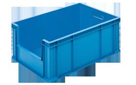 HP-4628-AV-plastik-kapali-sanayi-onu-acik-kasa-plastic-stacking-crate-solid-container-bin-пластик-ящик-2