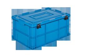 HP-4628-MK-hipas-plastik-kapakli-kapali-sanayi-kasa-plastic-stacking-crate-solid-cover-container-bin-пластик-ящик3