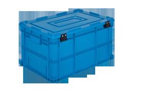 HP-4632-MK-hipas-plastik-kapakli-kapali-sanayi-kasa-plastic-stacking-crate-solid-cover-container-bin-пластик-ящик-