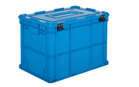 HP-4642-MK-hipas-plastik-kapakli-kapali-sanayi-kasa-plastic-stacking-crate-solid-cover-container-bin-пластик-ящик-
