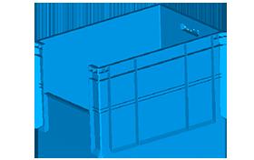 HP-4645-plastik-kapali-sanayi-kasa-plastic-stacking-crate-solid-container-bin-пластик-ящик