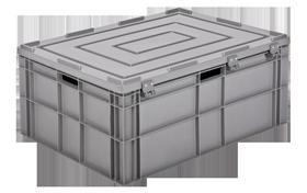 HP-8633-MK-hipas-plastik-kapali-sanayi-kasa-plastic-stacking-crate-solid-container-bin-пластик-ящиk