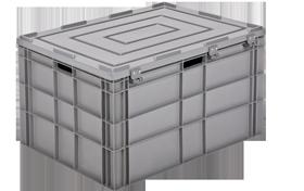 HP-8644-MK-hipas-plastik-kapali-sanayi-kasa-plastic-stacking-crate-solid-container-bin-пластик-ящик