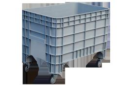 K-400-T-hipas-plastik-kapali-sanayi-kasa-tekerlekli-konteyner-plastic-stacking-crate-solid-container-bin-пластик-ящик