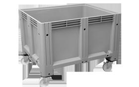 K-6600-KT-hipas-plastik-kapali-sanayi-kasa-tekerlekli-konteyner-plastic-stacking-crate-solid-container-bin-пластик-ящик